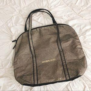 Victoria's Secret Gold Glitter Tote Bag ✨